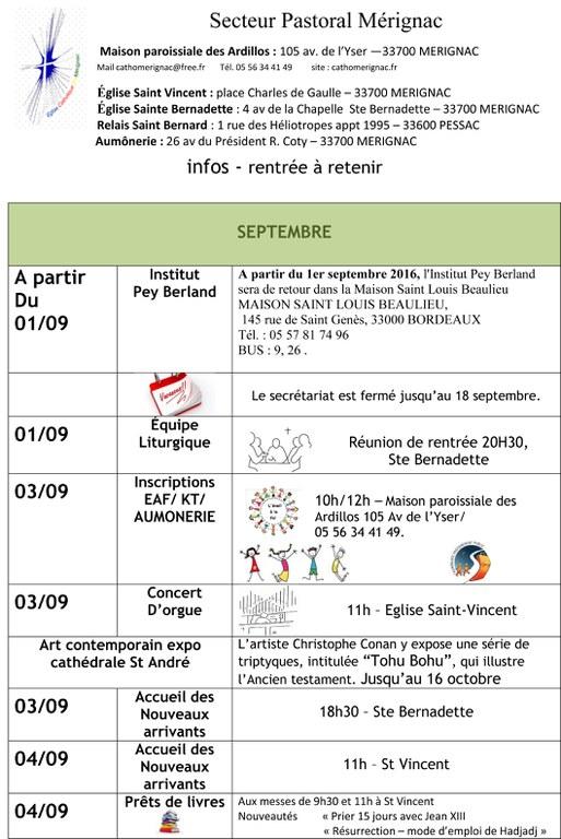 infos MERIGNAC SEPTEMBRE  2016 1