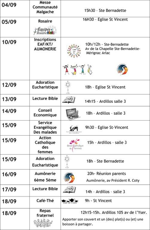 infos MERIGNAC SEPTEMBRE  2016 2